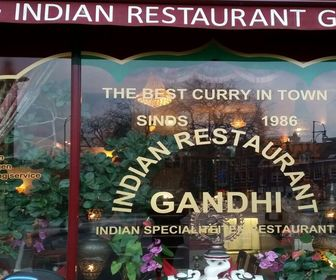 Foto van Gandhi Indian in Haarlem
