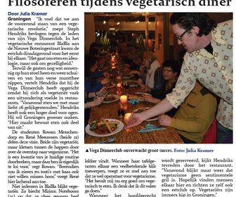 Filosoferen tijdens vegetarisch diner preview