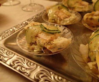Roelette van gerookte paling met aardap salade en dillecreme preview