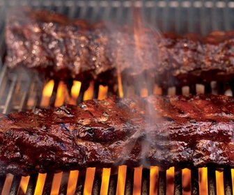 Ribs on bbq preview