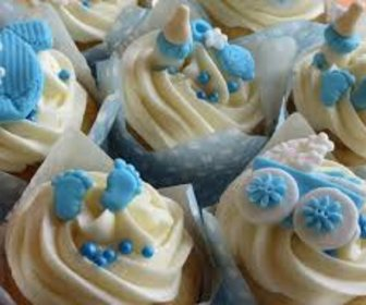 Baby shower cup cakes boy preview