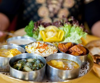 Vegetarische thali preview