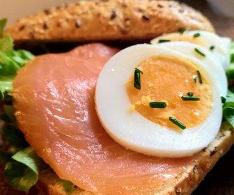 Broodje zalm met ei ontbijtservice groningen preview