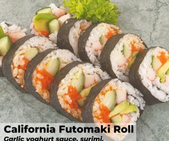 California futomaki roll preview