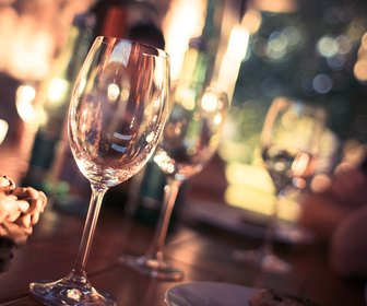 Wine glass on restaurant table 225228 preview
